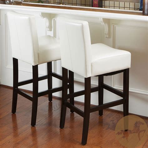 christopher knight bar stool christopher knight home set of two cream wood leather bar