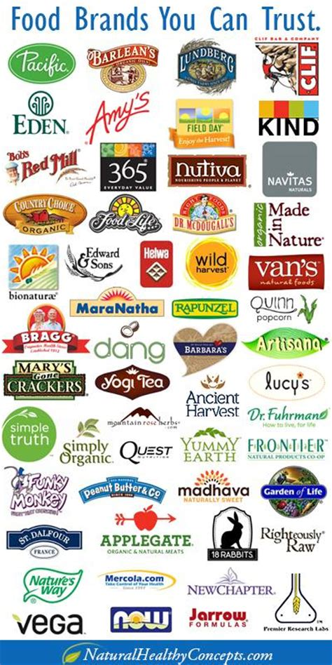 best food brands a list of some food brands you can trust big food brands like general mills kellog