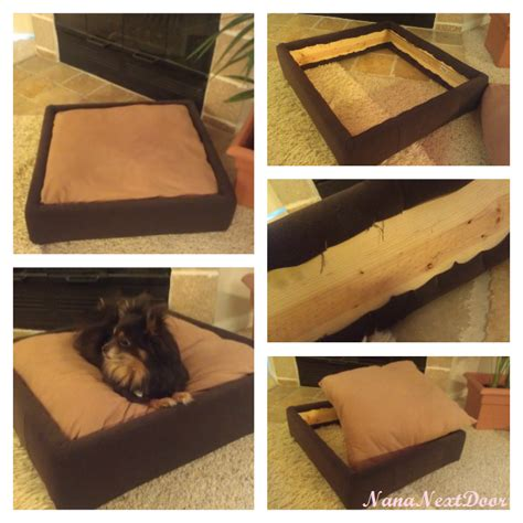 how to make a dog bed nana next door diy platform dog bed