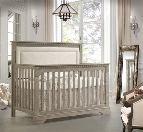upholstered baby crib natart ithaca convertible crib with upholstered panel