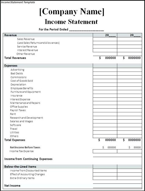 27 income statement examples templates single multi step pro