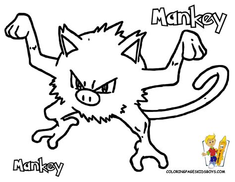 pokemon coloring pages golduck mankey coloring sheets pinterest pokemon pictures