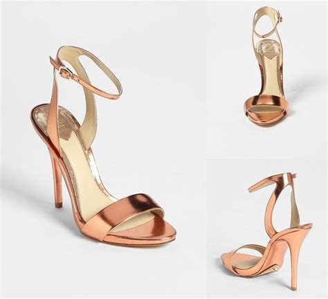 Gold Strappy Shoes Wedding by Gold Strappy Wedding Shoes 2 Onewed