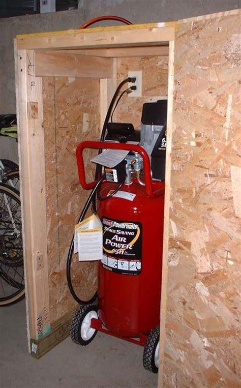 sound suppressing compressor enclosure woodworking stuff