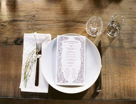 simple place setting simple garnish place setting ideas once wed