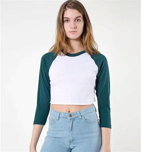 29797 Summer Crop Top 2016 summer fashion american style brand crop top sleeve cropped casual t shirts tops
