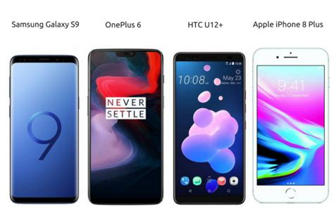 oneplus 6 vs htc u12 plus vs samsung galaxy s9 vs iphone 8 plus price in india specifications