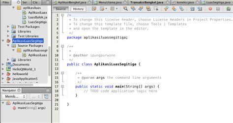 tutorial netbeans bahasa indonesia membuat aplikasi luas segitiga dengan java netbeans