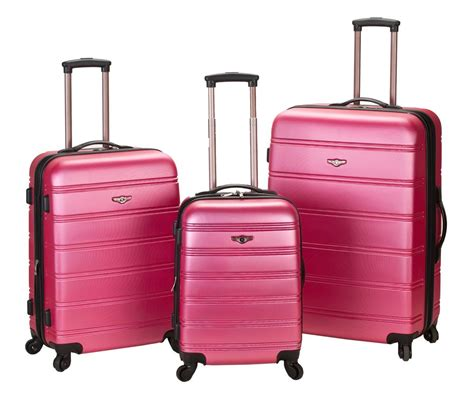rockland fox luggage melbourne pick 3 pc abs spinner