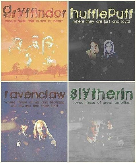 characteristics of harry potter houses hogwarts houses obsessed harry potter pinterest