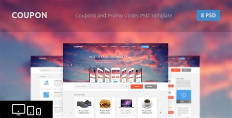 themeforest coupon theme coupon coupons and promo codes psd template by