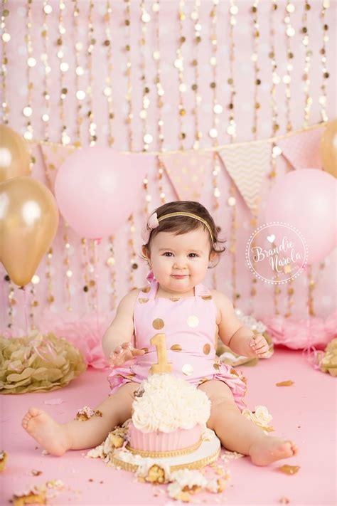st birthday  pink  gold st birthday  birthday cake smash smash cake smash