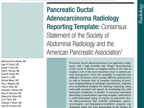 ct abdomen report template pancreatitis pancreas pancreatic adenocarcinoma pearls learning
