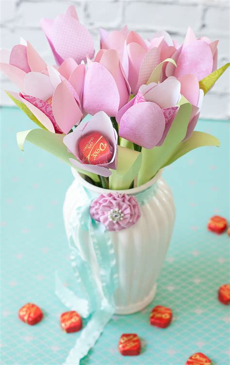 mother s day cheery chocolate paper tulip tutorial frog