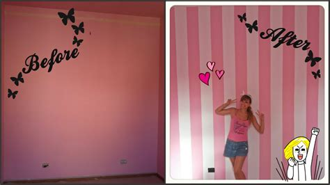 Pittura A Righe by Diy Striped Wall Dipingere Parete A Righe Cherry
