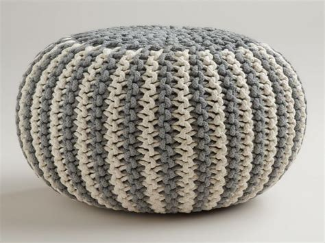 pattern for knitted pouf ottoman knitted pouf pattern חיפוש ב google granny pinterest