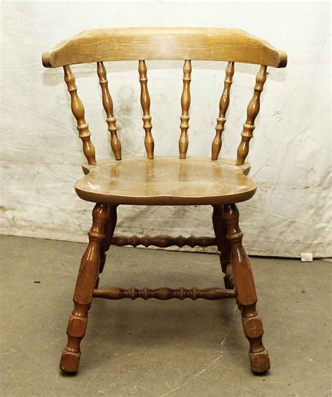 Wooden Captains Chairs by Antique Wooden Captains Chair Olde Things