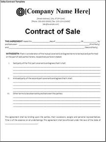 Free Sle Contract Templates sales contract template page word excel pdf