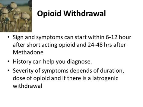 After Methadone Detox Symptoms by Managing And Opioid Withdrawals Ppt