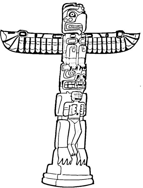 totem pole template free printable totem pole coloring pages for