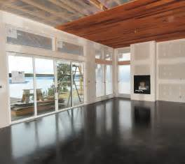 stained concrete overlay we are going to help complete the look with a floor to ceiling custom