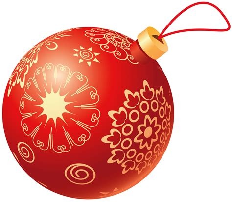 christmas red ball transparent png stickpng