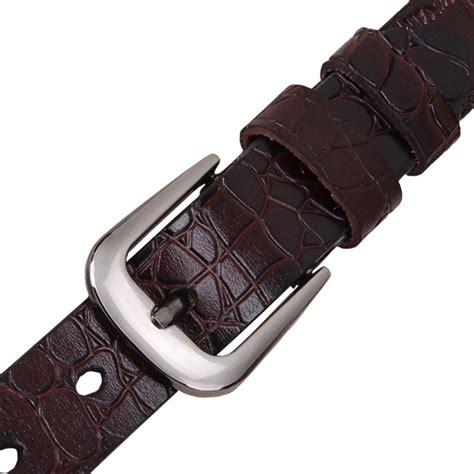 Gelang Jangkar Genuine Orange Colour High Quality blue thin belts for cow genuine leather belt