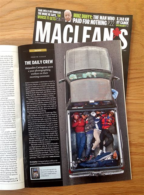 Featured In Macleans by Alejandro Cartagena Photo Essay In Maclean S Circuit Gallery