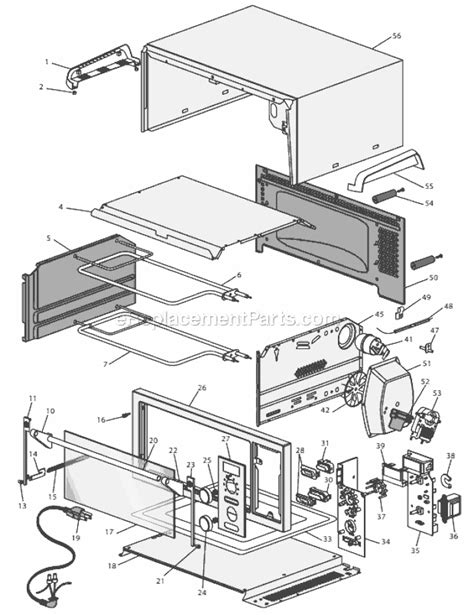 Delonghi Toaster Oven Replacement Parts Delonghi Do1289 Parts List And Diagram Ereplacementparts Com