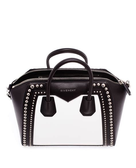 Givenchy Studded Shopper 2 by Givenchy Medium Studded Leather Antigona Tote In Black Lyst