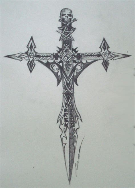 tattoo gothic cross designs gothic cross tattoo designs gothic cross by draco2005 on