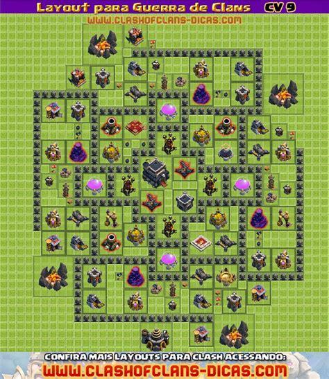 layout quadrado cv 9 layouts cv9 para a guerra de clans clash of clans dicas