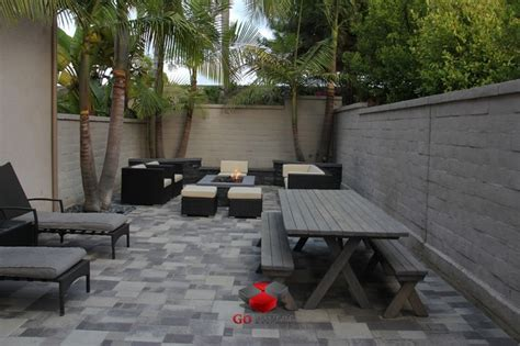 small pit for patios small backyard patio pit planters walls project view 3