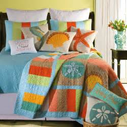 washed ashore beach themed quilt bedding quilting