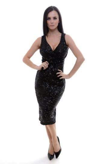 New luxe sequin hourglass the perfect little black party dress our