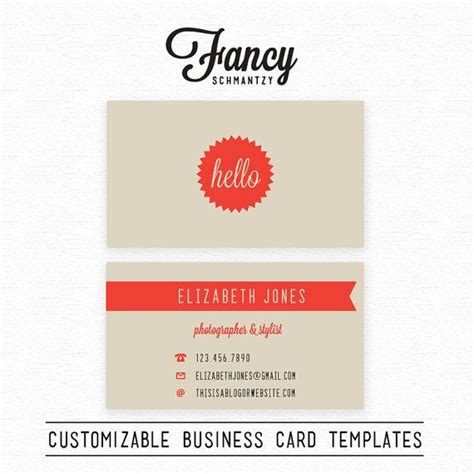 Hello Business Card Template hello business card template