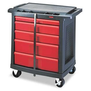 rubbermaid five drawer mobile workcenter office supplies