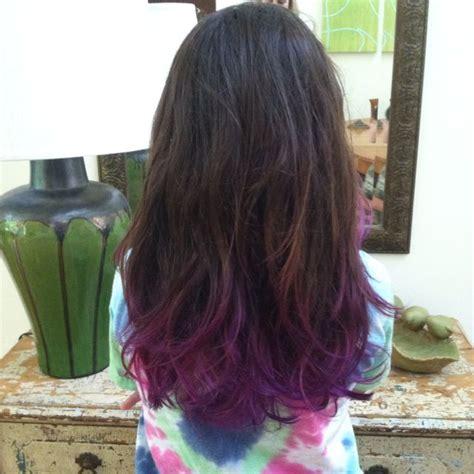 purple dip dye ideas  pinterest red hair tips