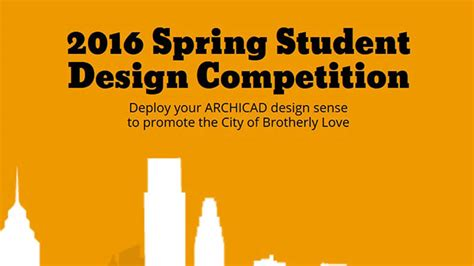 design competition in 2016 graphisoft 2016 spring student design competition