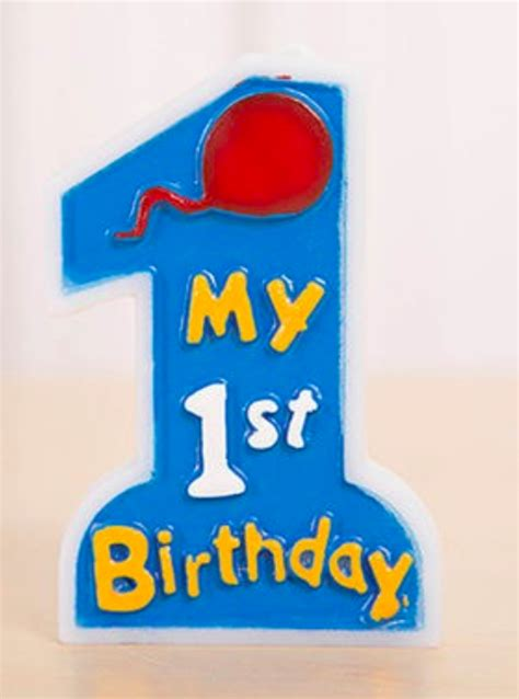 my 1st birthday cake candle