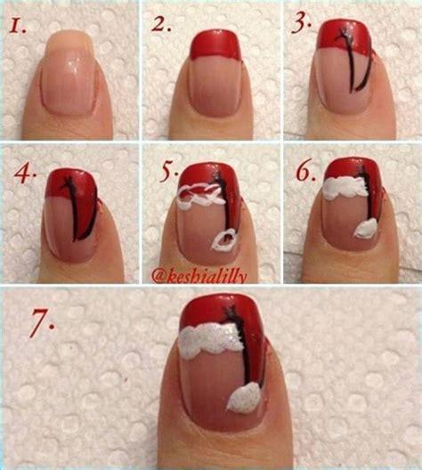 xmas nail art tutorial diy christmas nails designs tutorials step by step