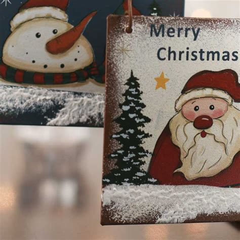 rustic merry christmas ornament sign wall art