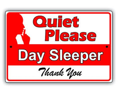 Day Sleeper Signs by Sign Etsy
