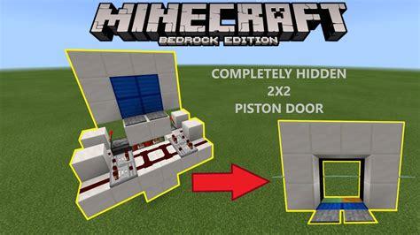 vertical piston door  minecraft
