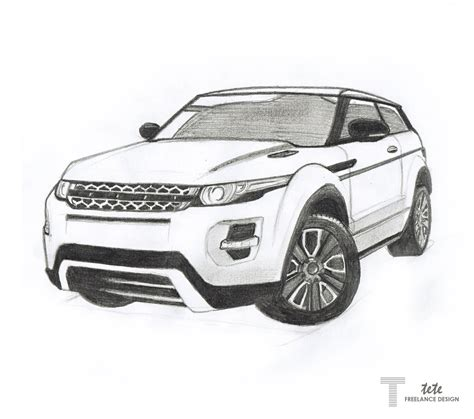 range rover sketch range rover evoque drawing by ifaze on deviantart