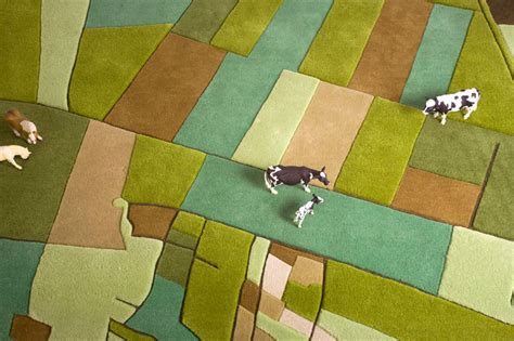 rug land amazing carpet design inspired by satellite images of farm land stretches livbit