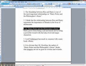 Examples For Thesis Statement Weak And Strong Thesis Statements Harry Potter Examples