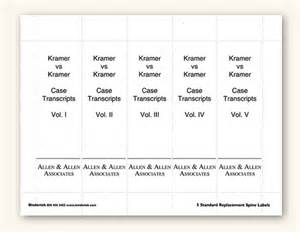 inserts template insertable spine labels for standard 3 quot binders
