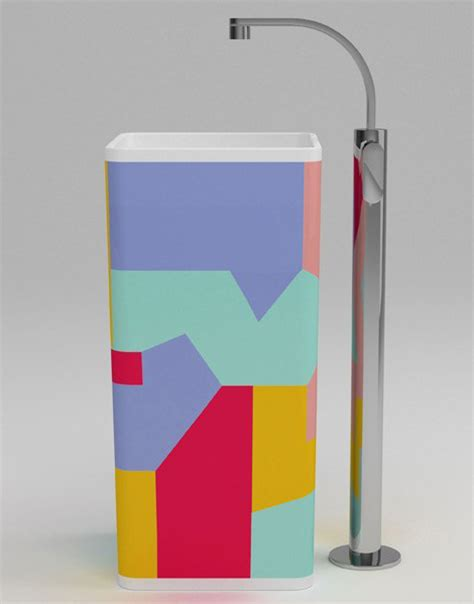 Colored Pedestal Sink Colored Pedestal Sinks Monowash Sink By Ceramica Flaminia