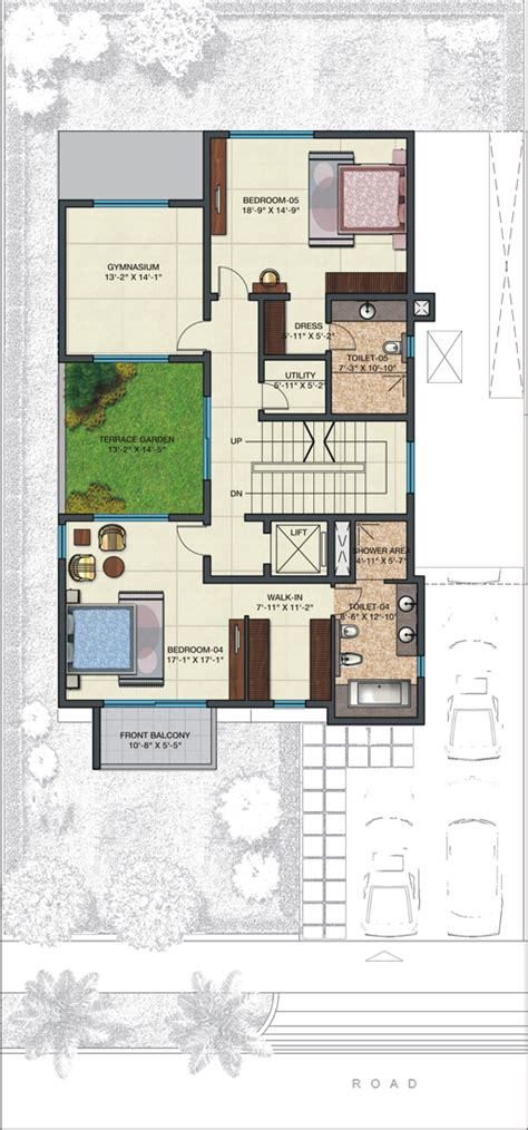 500 square yards house plan gharplans pk villas in 500 square yards qvc realty villa in 500